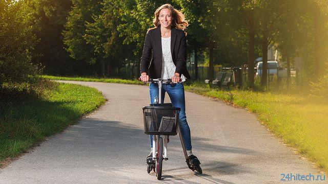 Гибрид велосипеда и роликов (3 фото + видео)