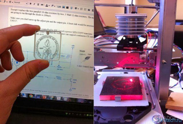 Лазерный гравировщик из двух DVD-приводов (7 фото + 2 видео)