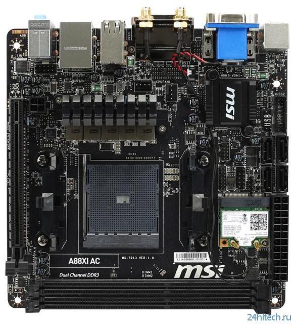 Материнская плата MSI A88XI AC для создания компактных систем