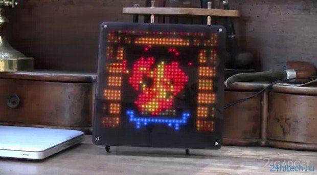 Мультимедийная пиксельная фоторамка (3 фото + видео)