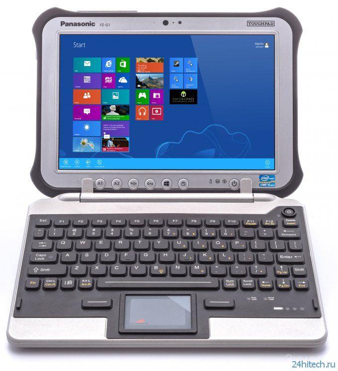 Надёжная клавиатура для надёжного планшета Panasonic (4 фото)