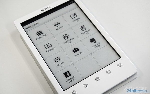 Обзор электронной читалки PRS-T3 от Sony