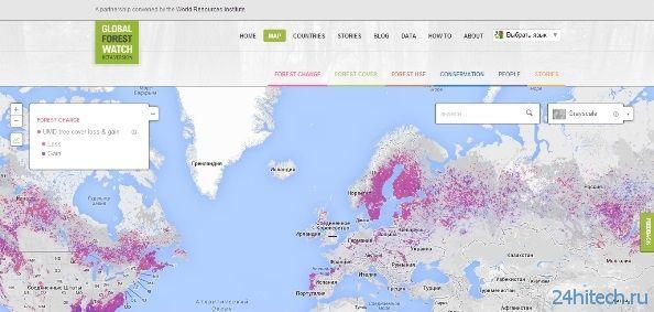 Отслеживать вырубку лесов станет намного проще с помощью Global Forest Watch
