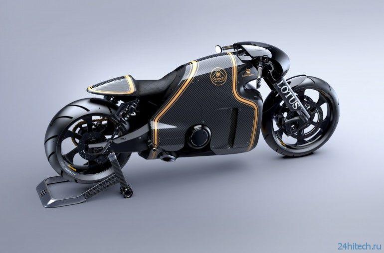 Первые изображения супербайка Lotus C-01 представлены общественности