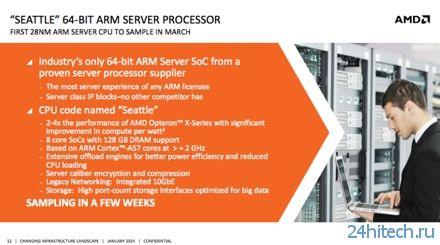 Первый серверный процессор AMD на архитектуре ARM и платформа для разработчиков