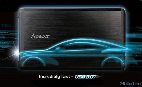 Портативный SSD-накопитель Apacer AS710 с интерфейсами SATA 3.0 и USB 3.0