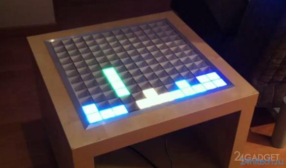 Самодельный интерактивный стол (видео)