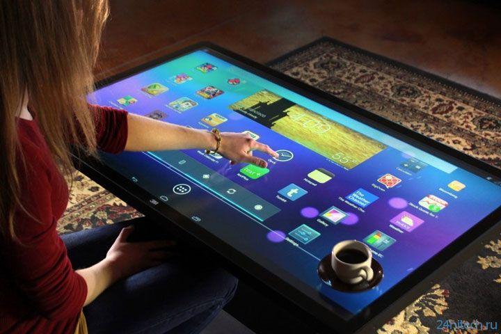 Сенсорный Android-стол Ideum Platform 46 распознаёт до 60 прикосновений