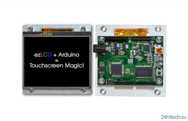 Сенсорный дисплей для платформ Arduino (2 видео)