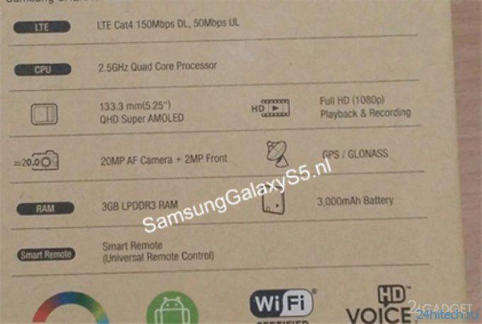 Свежая порция слухов о Samsung Galaxy S5