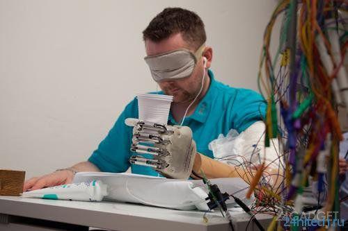 Высокочувствительный бионический протез (2 фото + видео)
