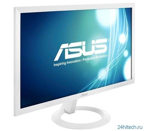 23-дюймовый монитор ASUS VX238N-W с элегантной белой рамкой