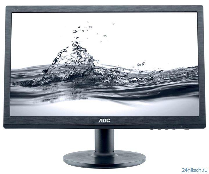 AOC представила четыре новых монитора с диагональю до 24 дюймов