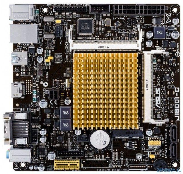 ASUS J1800I-C – универсальная материнская плата с встроенным процессором Intel Celeron J1800