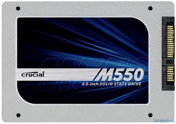 Crucial представила твердотельные накопители серии M550