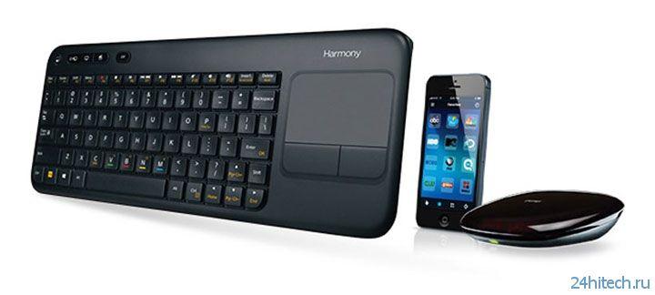 Logitech представила клавиатуру Harmony Keyboard для домашней медиасистемы