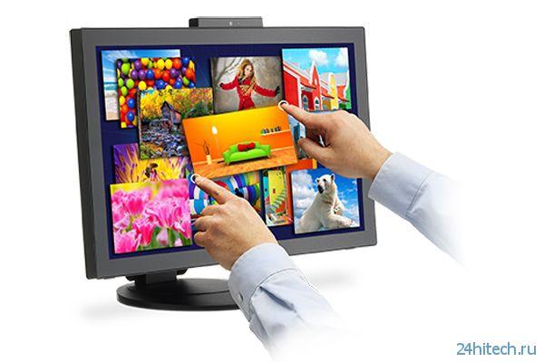 Монитор NEC MultiSync E232WMT поддерживает мультитач-управление