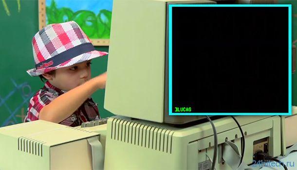 Компьютер Apple II 1977 г.в. и современный ребенок (видео)
