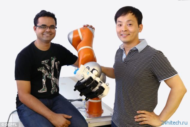 Роботическая рука-манипулятор сможет поймать брошенный в неё предмет
