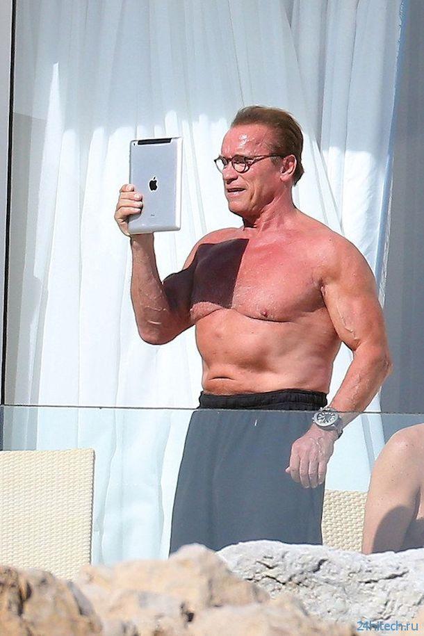 Селфи Арнольда Шварцнеггера на iPad (фото)