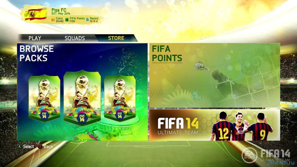 В FIFA 14 добавят новый режим, посвященный предстоящему Чемпионату мира по футболу