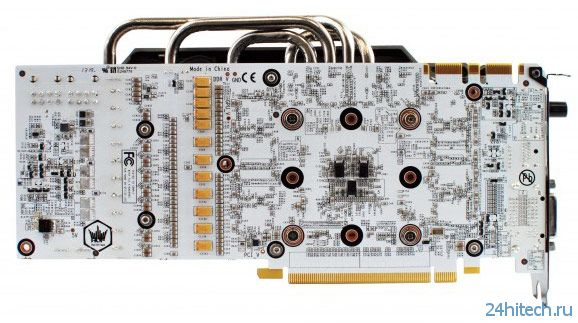Графический процессор 3D-карты Galaxy GeForce GTX 780 HOF+ ОС работает на частоте 1091 МГц