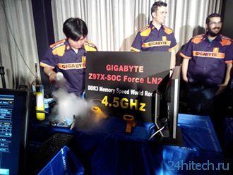 Материнская плата GIGABYTE Z97X-SOC FORCE LN2 доминировала на многих оверклокерских соревнованиях