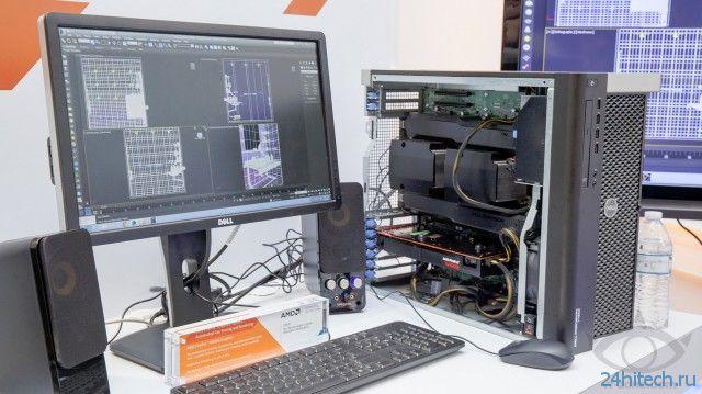 Опубликованы фото профессиональной видеокарты AMD FirePro W8100