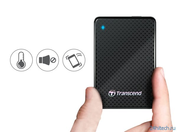 Портативный SSD-накопитель Transcend ESD400 вмещает до 1 Тбайт данных
