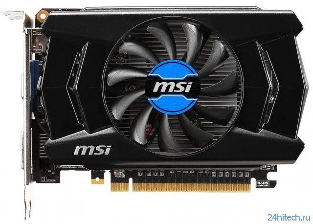 Серия видеокарт MSI GeForce GT 740 включает в себя модели только с 2-мя ГБ памяти