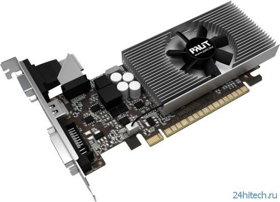 Серия видеокарт Palit GeForce GT 740 имеет в своем составе разогнанные модели