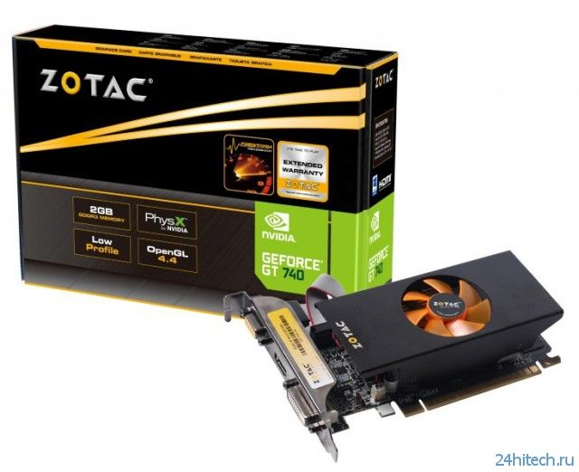 Серия видеокарт ZOTAC GeForce GT 740 включает в себя четыре модели
