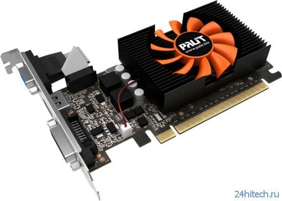 Восемь новых видеокарт серии Palit GeForce GT 730