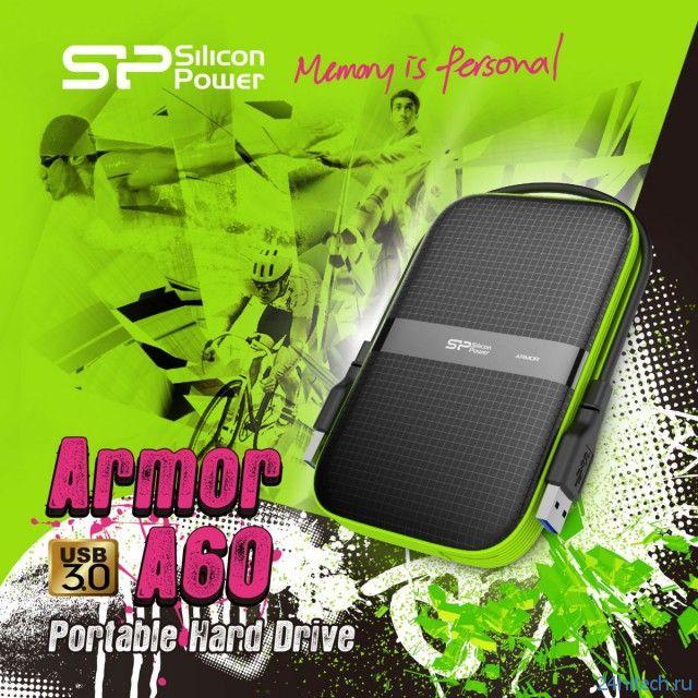 Защищенный внешний накопитель Silicon Power Armor A60 объемом до 2-х ТБ