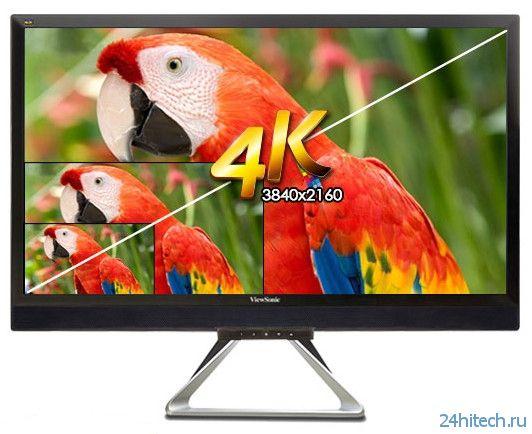 Монитор ViewSonic VX2880ml формата 4K оценён в 0