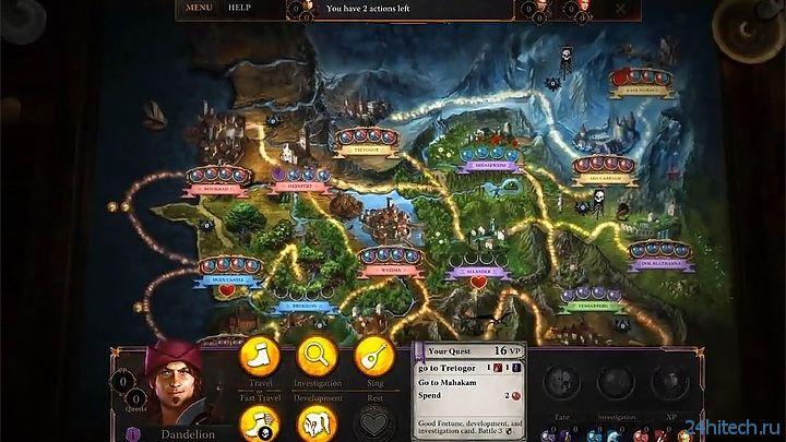 Началось закрытое тестирование цифрового варианта настольной The Witcher Adventure Game