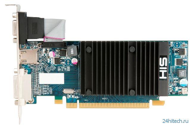 Низкопрофильная видеокарта HIS R5 230 Silence 2GB DDR3 для HTPC