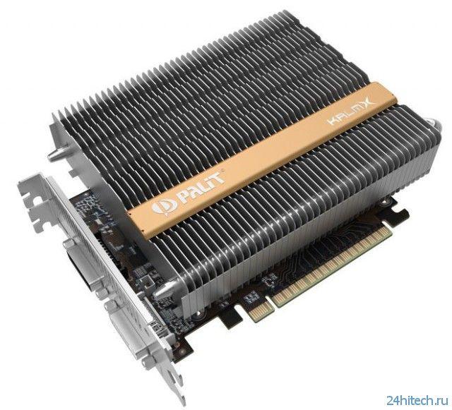 Серия видеокарт Palit GeForce GTX 750 KalmX с пассивной системой охлаждения