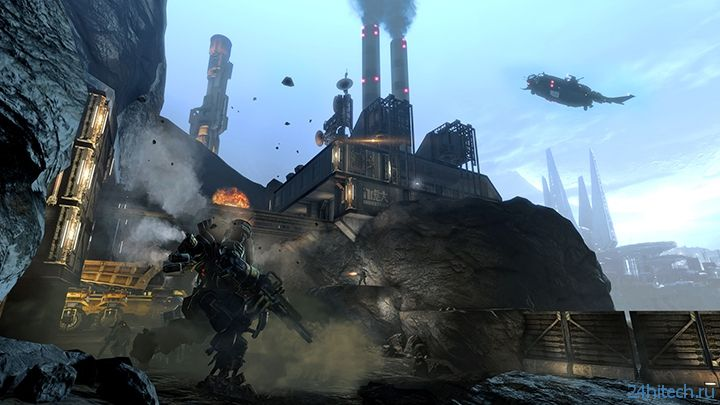Скриншоты второго дополнения к Titanfall показали битву на краю Фронтира