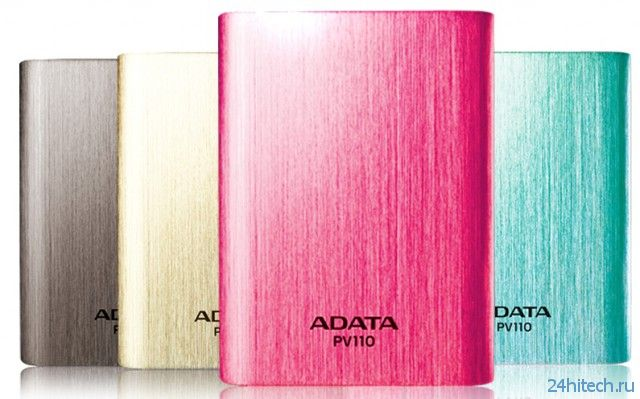 Внешний аккумулятор ADATA PV110 Power Bank емкостью 10 400 мА·ч