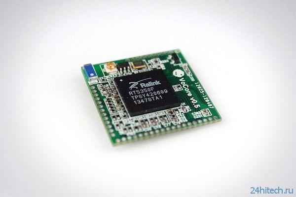 VoCore: «компьютер» размером с монету с модулем Wi-Fi