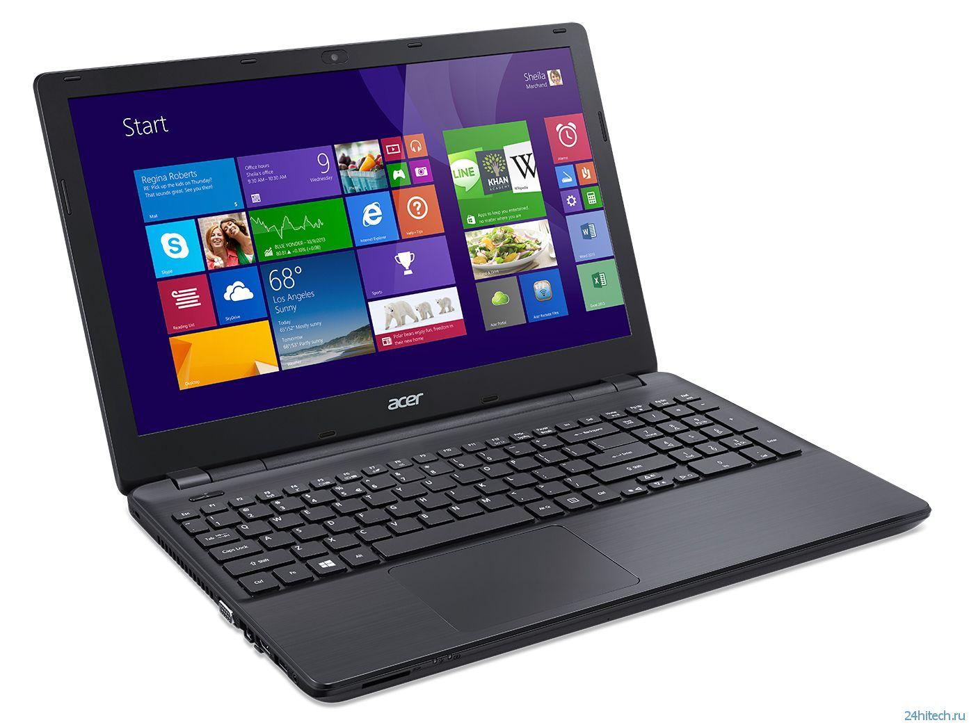 Acer представляет новую линейку ноутбуков - Extensa