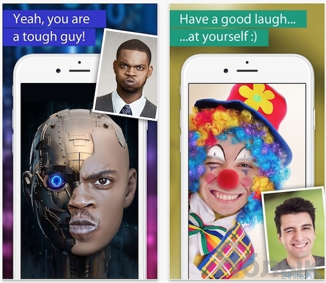 какой програмкой меняют лица местами