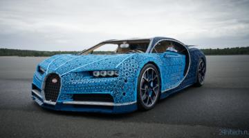 LEGO построила Bugatti из миллиона кубиков. На ней можно прокатиться!
