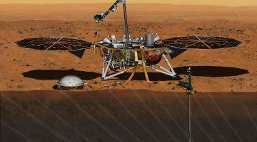 Модуль InSignt развернул солнечные панели и отправил новую фотографию поверхности Марса