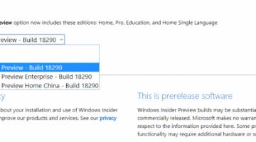 Windows Insider: выпущены ISO-образы сборки 18290