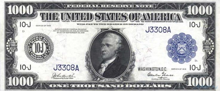 500, 1000, 5000 и 100 000 долларов — самые крупные и редкие купюры американской валюты